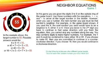 Neighbor Equations