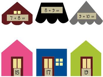 Math Addition Center ~Neighbor Numbers ~ Activities for adding doubles plus one