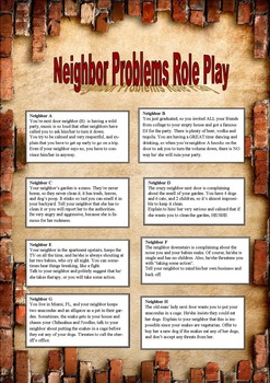 Neighbor Problems Role Play