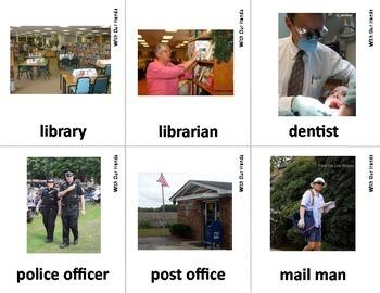 Neighborhood - Community Helper Sign Language (ASL) Vocabulary Cards