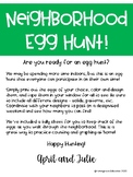 Neighborhood Easter Egg Hunt Printable