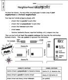 Neighborhood Geometry - Parallel & Perpendicular Lines