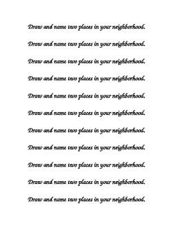 Neighborhood Journal Prompt