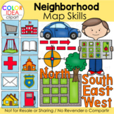 Neighborhood Map Skills Clip Art