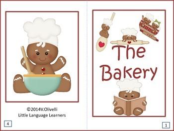 """ESL Activity: Vocabulary and Concepts-Neighborhood Places """"The Bakery""""+Newcomers"""