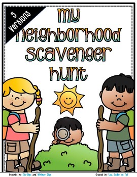 Neighborhood Scavenger Hunt - Neighborhood Walk Exploration