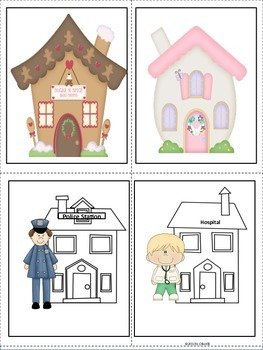 ESL Neighborhood Vocabulary Cards for Early Primary and ESL Newcomers