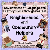 Neighborhood and Community Helpers  Bundle - ESL Newcomer Activities Too!