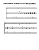 Neighborhood of Numbers: Sheet Music