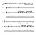 Neighborhood of Numbers: Sheet Music