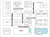 Neighborhood or City Map with Exam