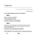 Neighbours ESL Conversation Worksheet