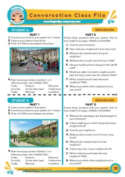 Neighbours & Neighbourhoods - ESL Speaking Activity