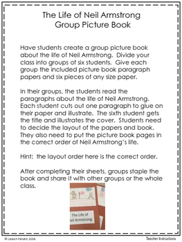Neil Armstrong: A Group Picture Book Activity