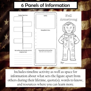Neil Armstrong Biography Trifold Brochure