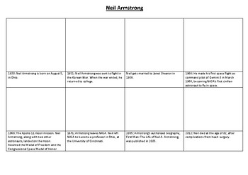 Neil Armstrong Comic Strip and Storyboard
