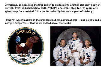 Neil Armstrong Moon Message Puzzle