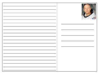 Neil Armstrong Postcard Templates