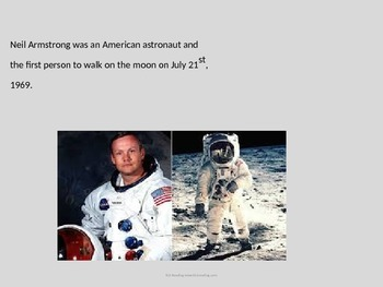 Neil Armstrong - Power Point - full life history - pictures - on the moon