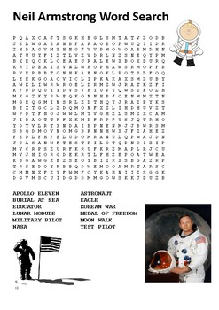 Neil Armstrong Word Search