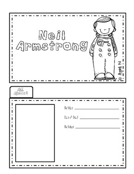 Neil Armstrong Writing Tab Book
