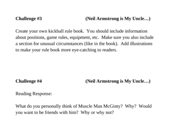 """""""Neil Armstrong is My Uncle..."""", by N. Marino, Project Challenges"""