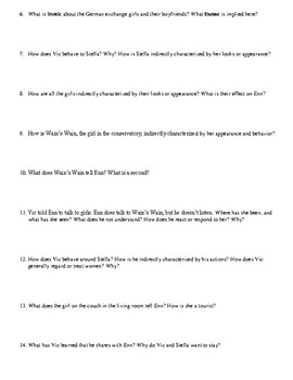 "Neil Gaiman's ""How to Talk to Girls at Parties"" Study Guide Packet"