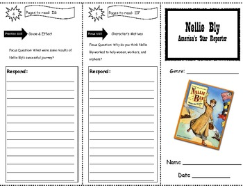 Nellie Bly Storytown Comprehension Trifold