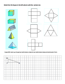 Grade 6: Geometry: Angles, Symmetry, Geometry Nets, Transformations