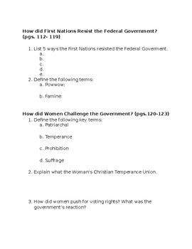 Nelson History Chapter 4 Study Notes