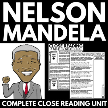 Nelson Mandela - Black History Month Unit Information and Research Project