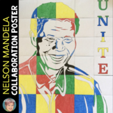 Nelson Mandela Collaboration Portrait Poster - Black History Month Activity