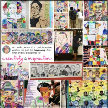 Nelson Mandela Collaboration Portrait Poster - Black History Month Activity