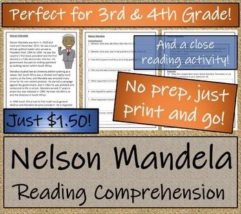 Nelson Mandela - 3rd Grade & 4th Grade Close Reading & Biography Bundle