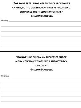 Nelson Mandela Activities & Worksheets | Teachers Pay Teachers