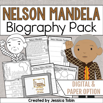 Nelson Mandela Biography Pack