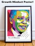 Nelson Mandela Black History Growth Mindset Poster Posters