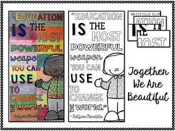 Nelson Mandela Collaboration Poster