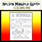 Nelson Mandela Coloring Page Quote