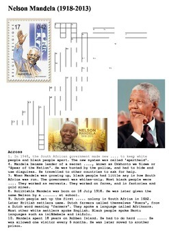 Nelson Mandela Cross Word