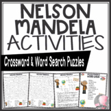 Nelson Mandela Crossword and Word Search Find Activities