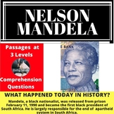 Nelson Mandela Differentiated Reading Comprehension Passage Feb. 11