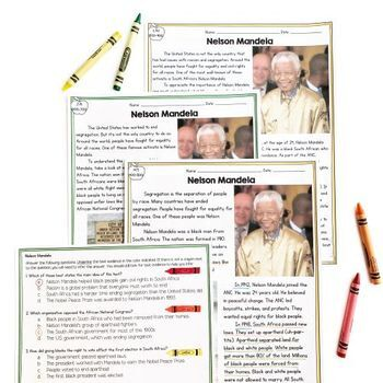Nelson Mandela Differentiated Reading and Writing Activities