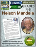 Nelson Mandela Biography Reading Comprehension - Print and
