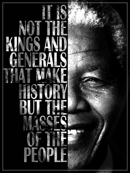 Nelson Mandela Inspirational Quote Poster By Strongs Corner Tpt