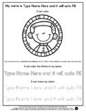 Nelson Mandela - Name Tracing & Coloring Editable Sheet  #