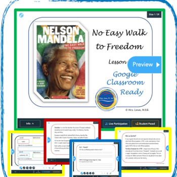 "Nelson Mandela ""No Easy Walk To Freedom"" Lesson Plan - Grades 6 -12"