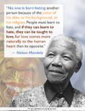 Nelson Mandela: No One is Born Hating Poster