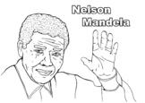 Nelson Mandela Political Leader Coloring Page Black History Month Resource