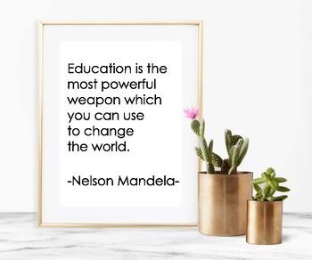 Nelson Mandela Quote - Printable Poster 8x10